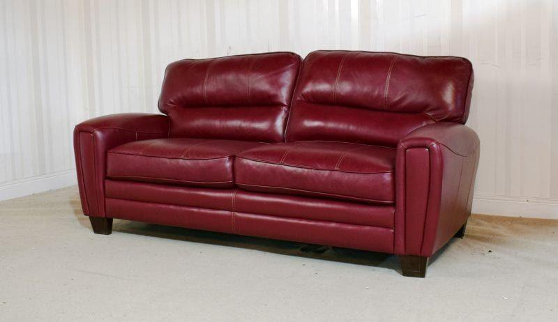 Cherry Leather 3 Seater Sofa Otis Homeflair 290 Sofa Seater Sofa Leather Sofa