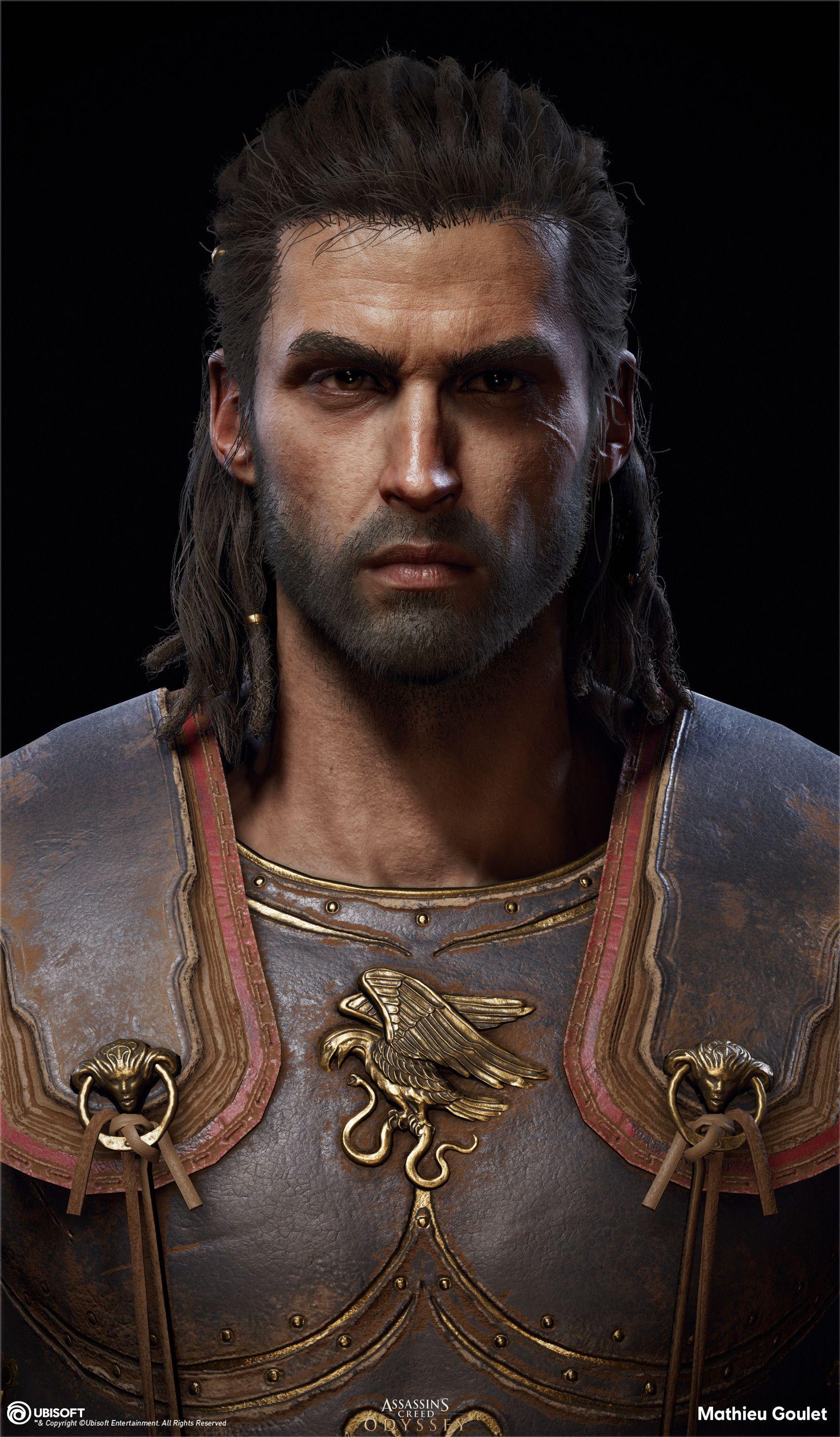 Artstation Assassin S Creed Odyssey Alexios Head Mathieu