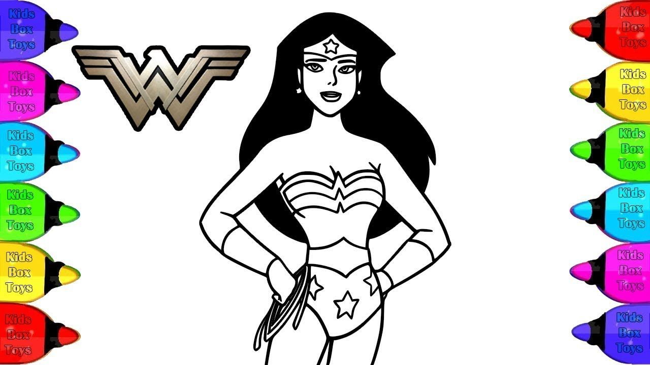 Wonder Woman Coloring Page Book Coloring Wonder Woman Step By