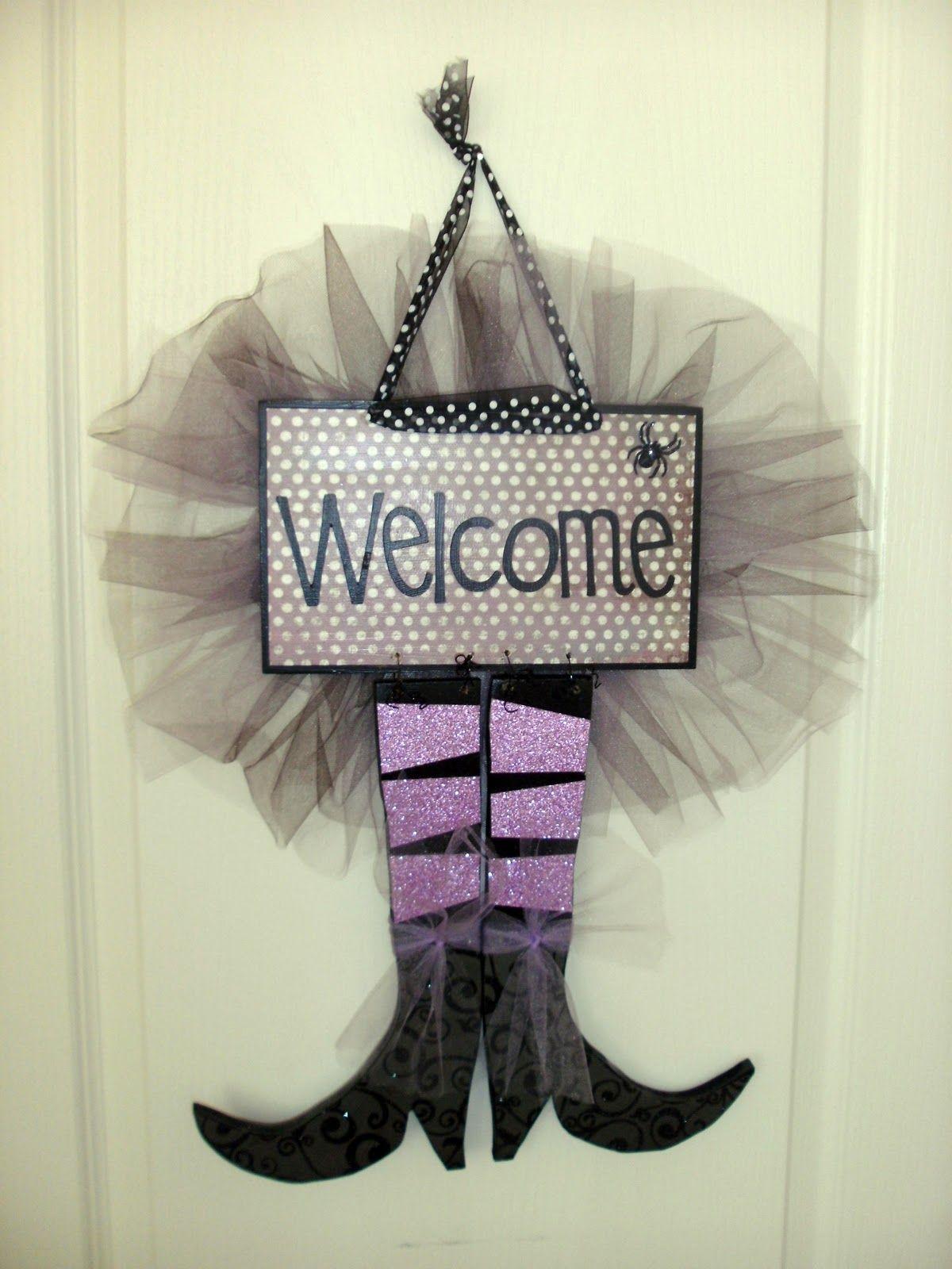 Cute door decoration idea for Halloween Halloween Pinterest - door decoration halloween