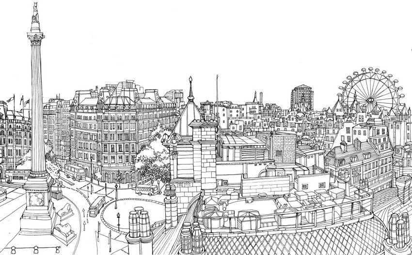 England - London | Londen illustratie, Kunst ideeën ...