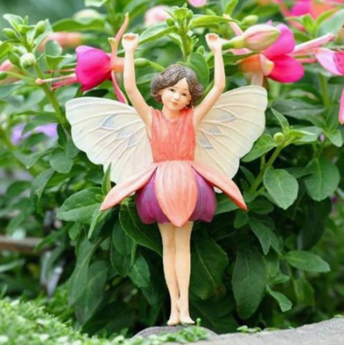Cicely Mary Barker Collectible Fuchsia Garden Flower Fairy Ornament Figurine Ebay Garden Fairies Figurines Miniature Fairy Gardens Fuchsia Garden