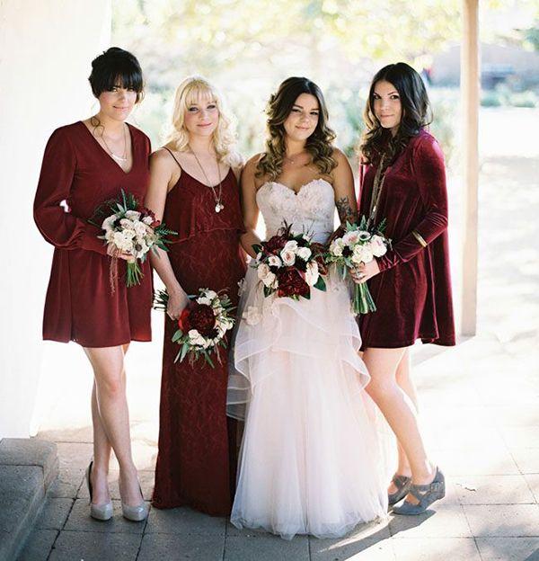 3502b15b2ce Jewel toned bridesmaid dresses  fall s must-have wedding look ...