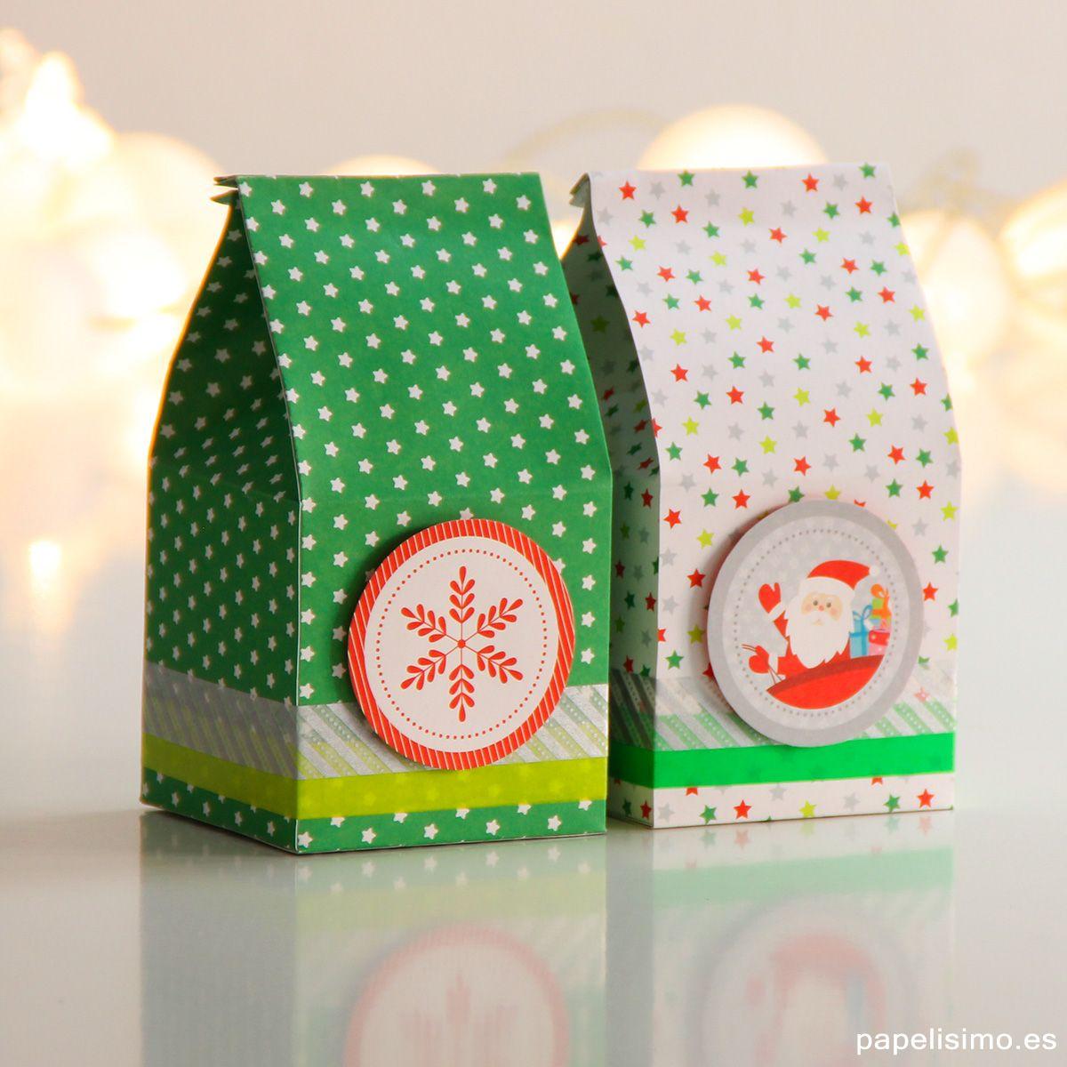 Cajas De Regalo Originales Hechas A Mano Cuadrada Navidad Make A Gift Box Crafts Gift Wrapping Corporate Gifts