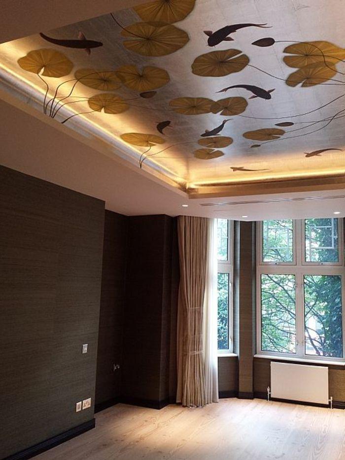 ▷ 1001+ Idées pour un papier peint trompe lu0027œil + les décos qui - plafond salle de bain pvc