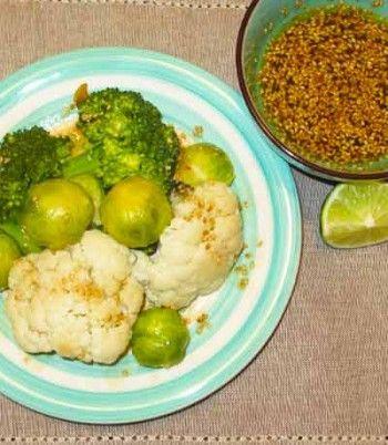 Gedämpfter Gemüse mit Honig Sojasauce