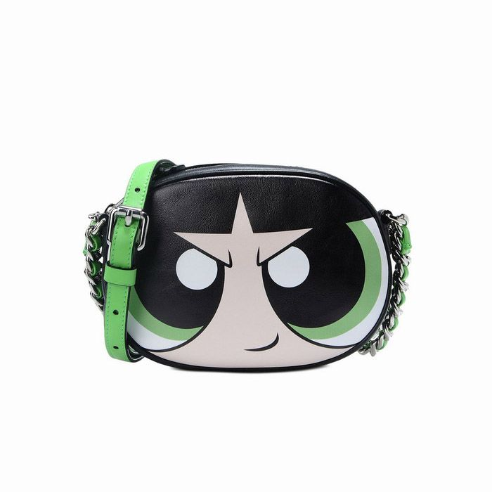 74d089e767 Moschino Powerpuff Girls Womens Small Shoulder Bag Black | The ...