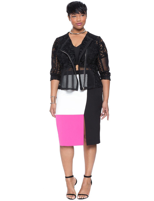 d6b2dd6b077d2 Colorblock Pencil Skirt