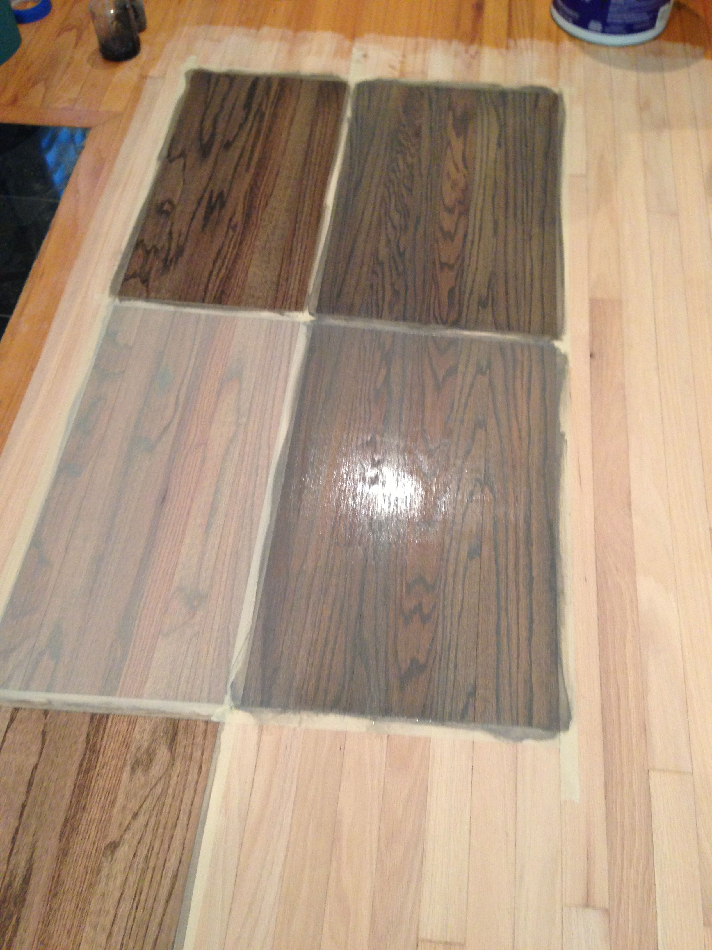 Brown and gray stain on red oak floor google search for Grey brown floor tiles