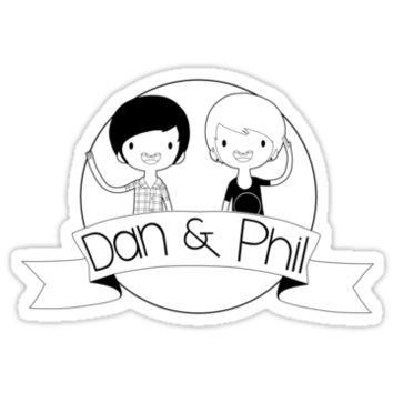 Shop Dan and Phil | art | Dan, phil, Dan, Coloring pages