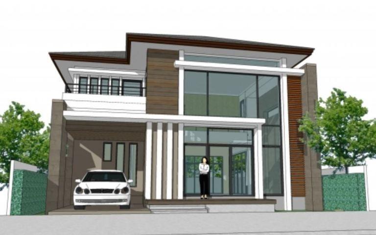 Home Design 11x15m With 4 Bedrooms Home Design With Plan Denah Desain Rumah Desain Rumah Modern Desain Rumah