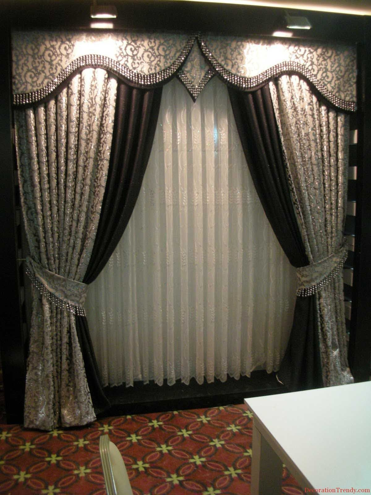 Modern designer curtains - Grey Curtain Model And Design For 2014