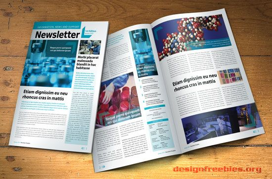 free indesign newsletter template: design no. 2 | free indesign, Powerpoint templates