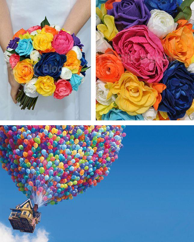 wedding flowers inspired by up pixar pixar