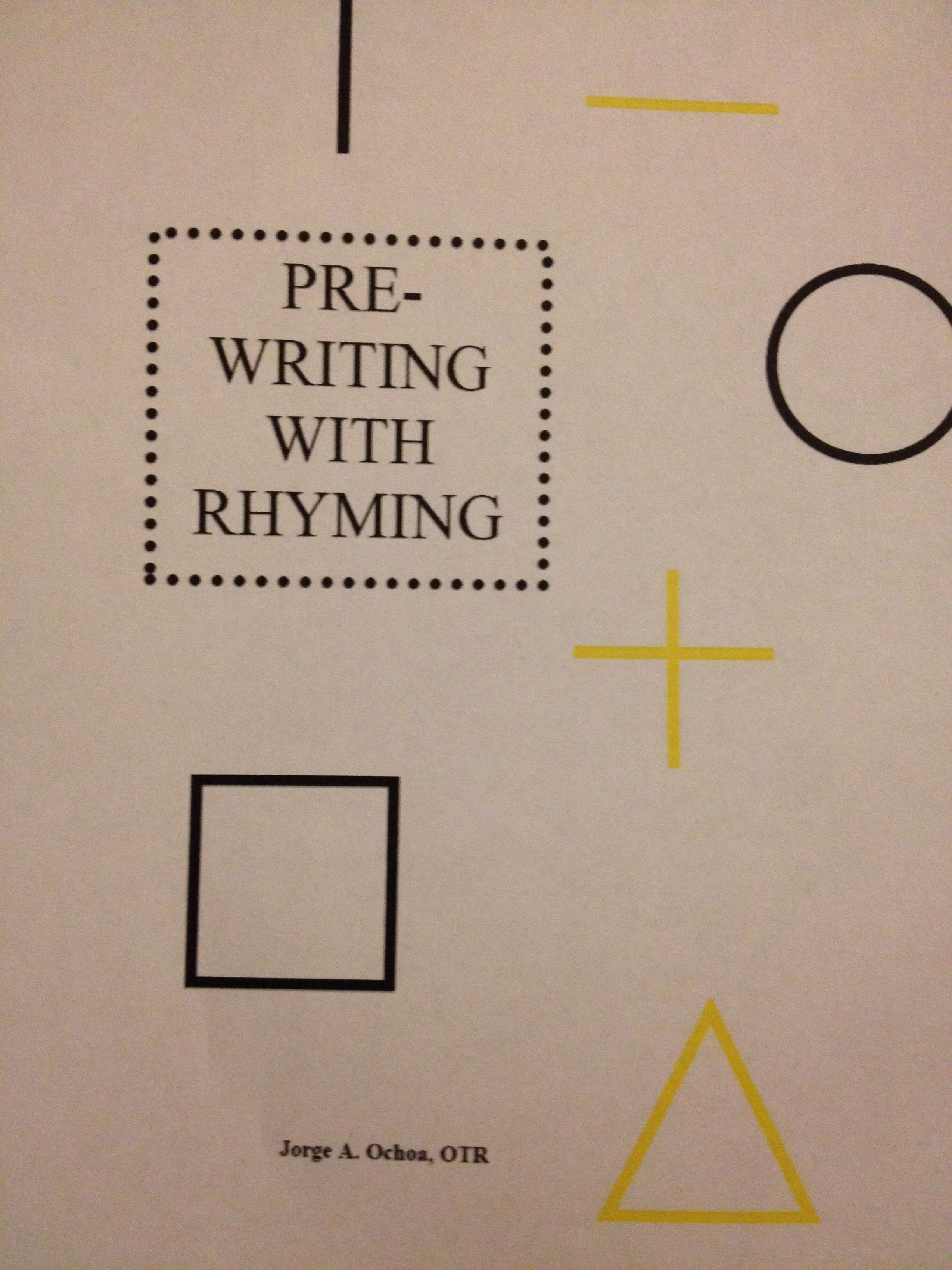 Prewriting With Rhyming Free Download Activity At