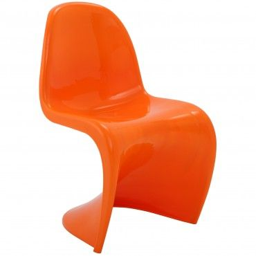 Orange Plastic Chair modern orange plastic accent chair sigma | modern lounge chairs