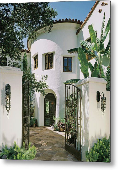 View Of House With Open Gate Metal Print