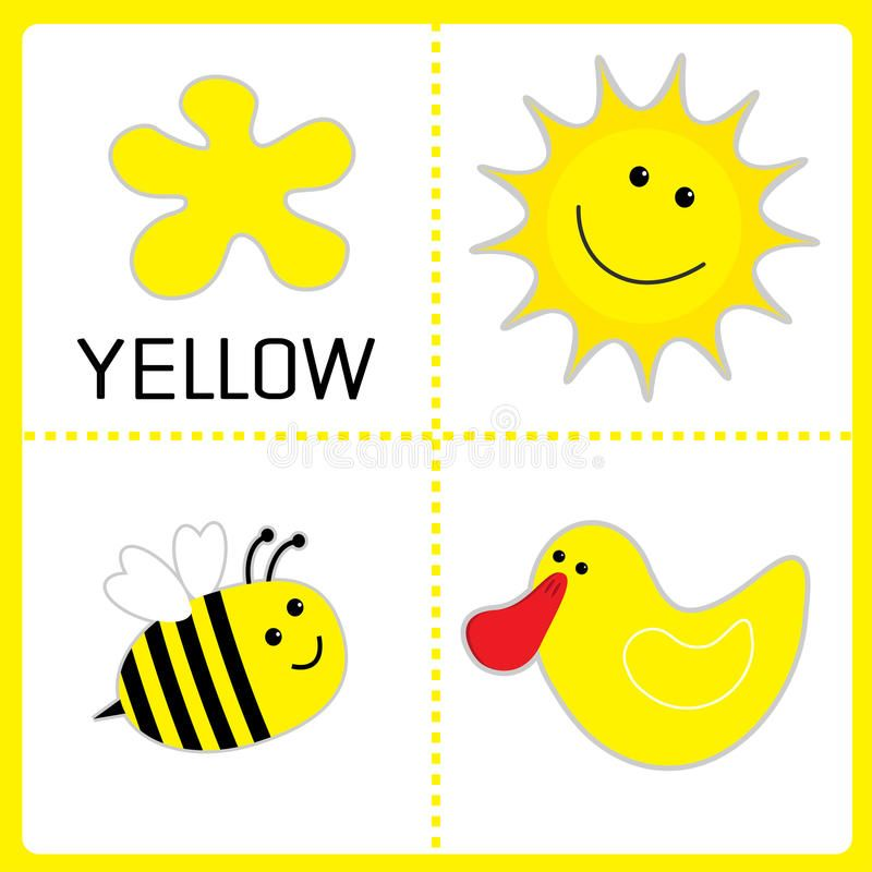 Learning Yellow Color Sun Bee And Duck Educational Cards Preschool Color Activities Preschool Colors Color Activities Yellow color ideas for preschool