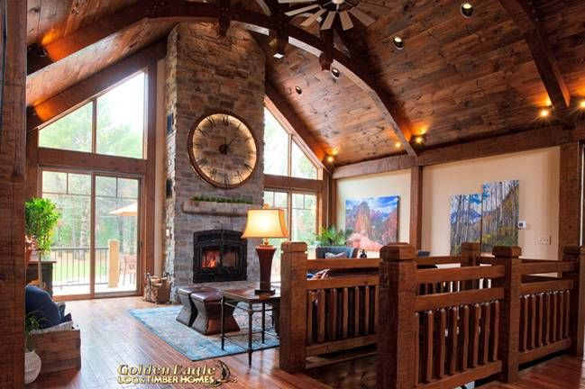 Timber Ranch 2286AR UCT Floor Plan from Golden Eagle Log & Timber Homes