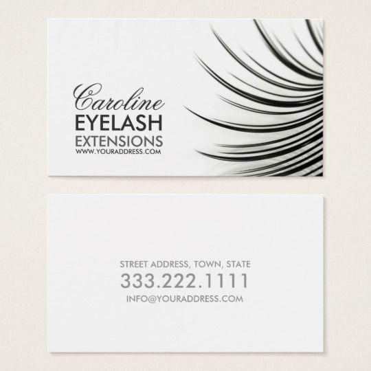 Minimalistic Eyelash Extensions Business Card Pinterest