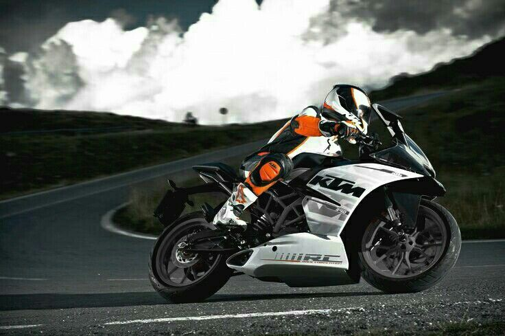 ktm rc 390 here all the orange color is removed and black colour
