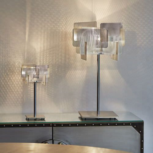Moderne Edelsthal-Tischlampe PETITE CUBE N°18A Thierry Vidé Design