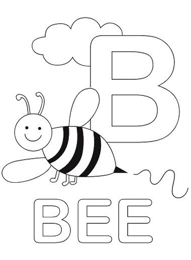 Letter B Coloring Page From Twistynoodle Com With Images