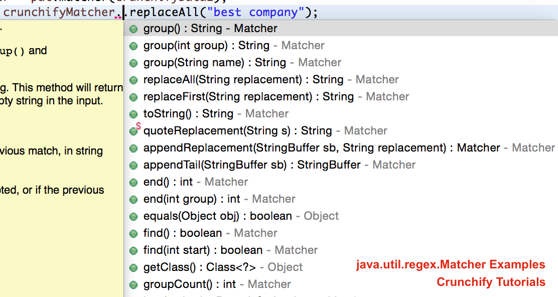 All In One Java Regex Matcher Pattern And Regular Expressions