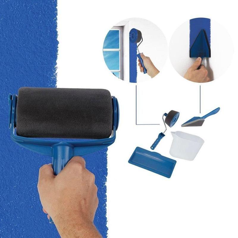 Hirundo Paint Roller Brush Painting Handle Tool Paint Roller Roller Brush Roller