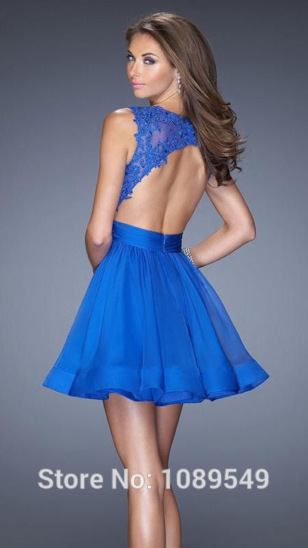 Vestidos de gala curtos azuis