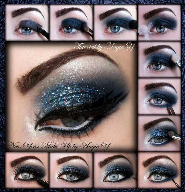 Look De Noche Azul Maquillaje De Noche Maquillaje De Ojos Tutoriales De Maquillaje