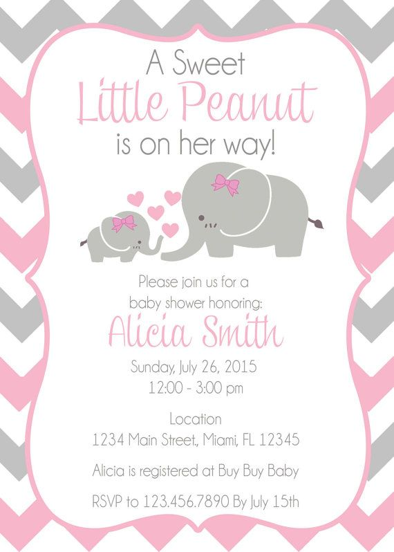 Baby Elephant Themed Shower