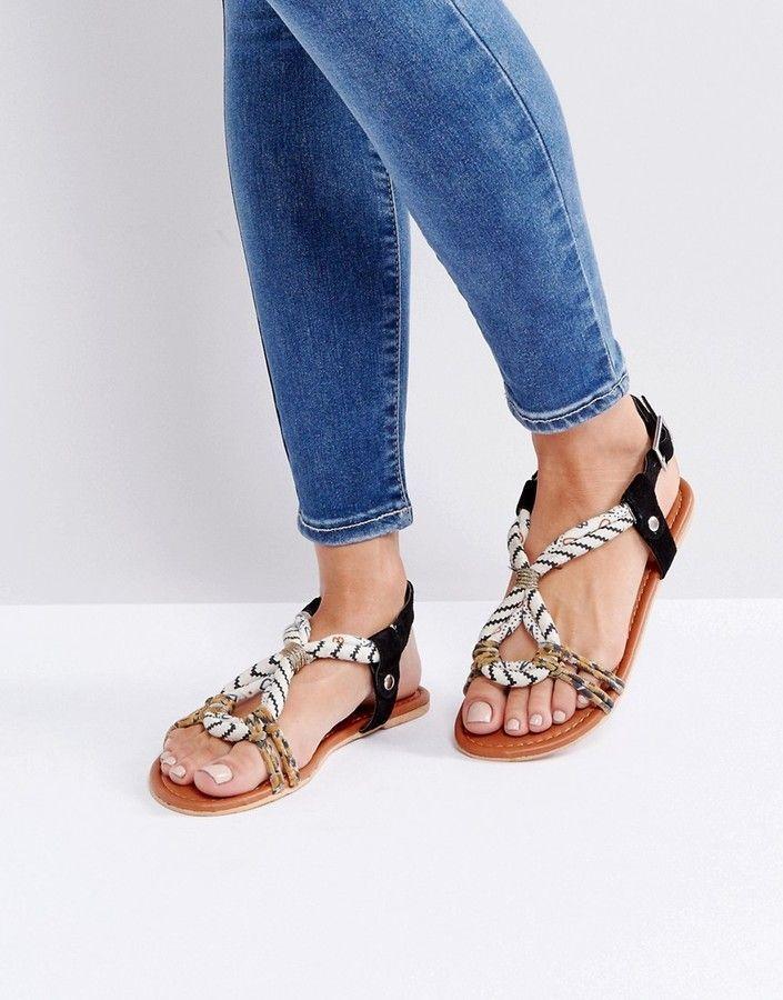 f3b8133cdf9f Asos FUSE Flat Sandals