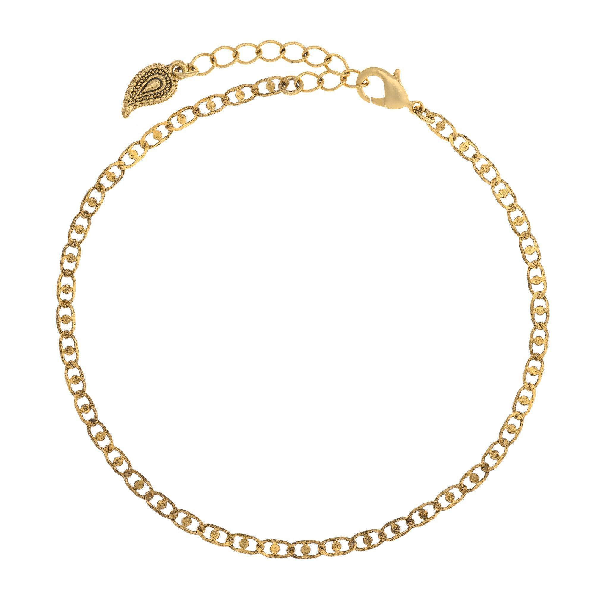 gold rope anklet shipping karat product watches overstock inc inches free com cut today mcs jewelry diamond yellow