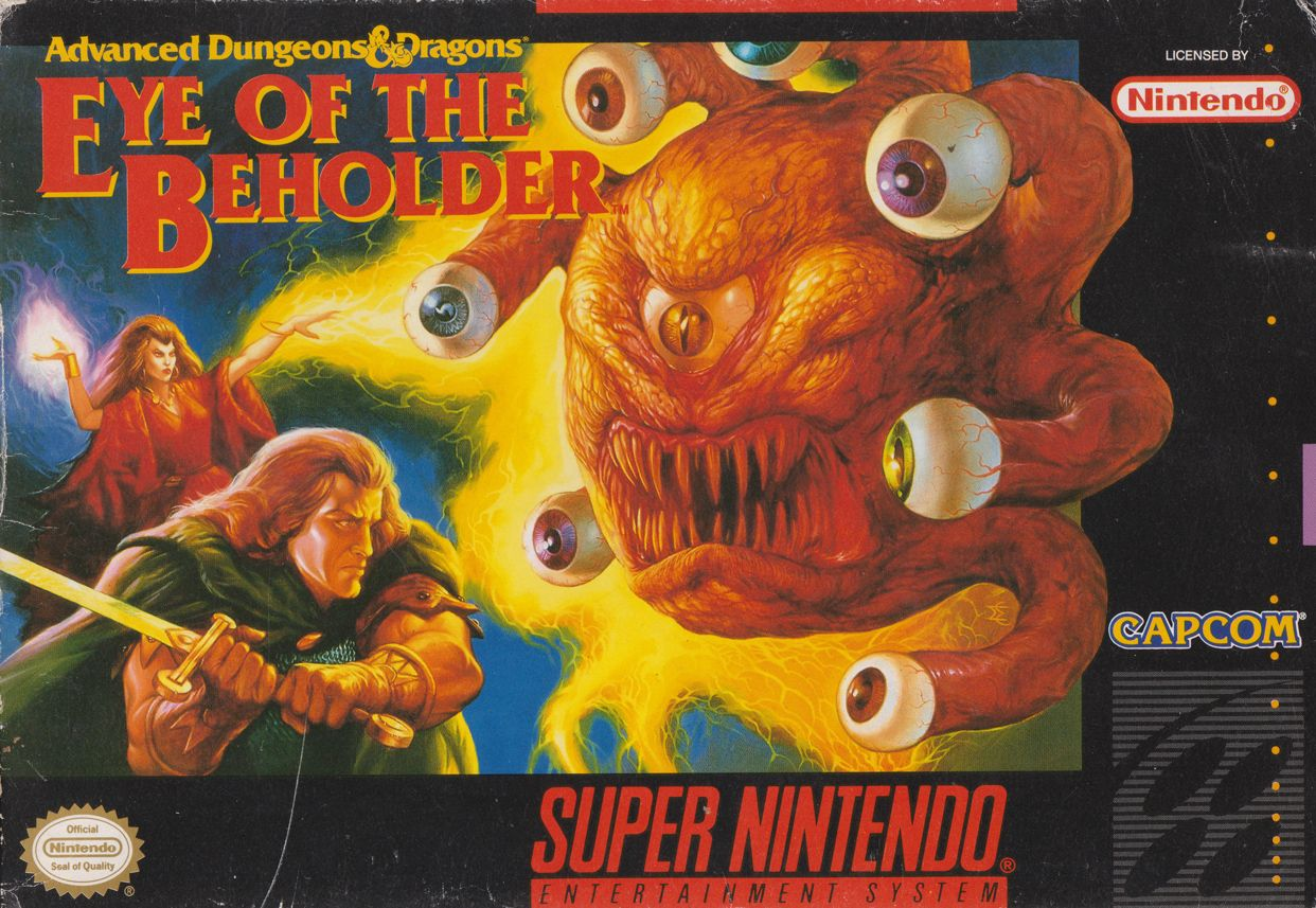 Advanced Dungeons Dragons Eye Of The Beholder Capcom Front