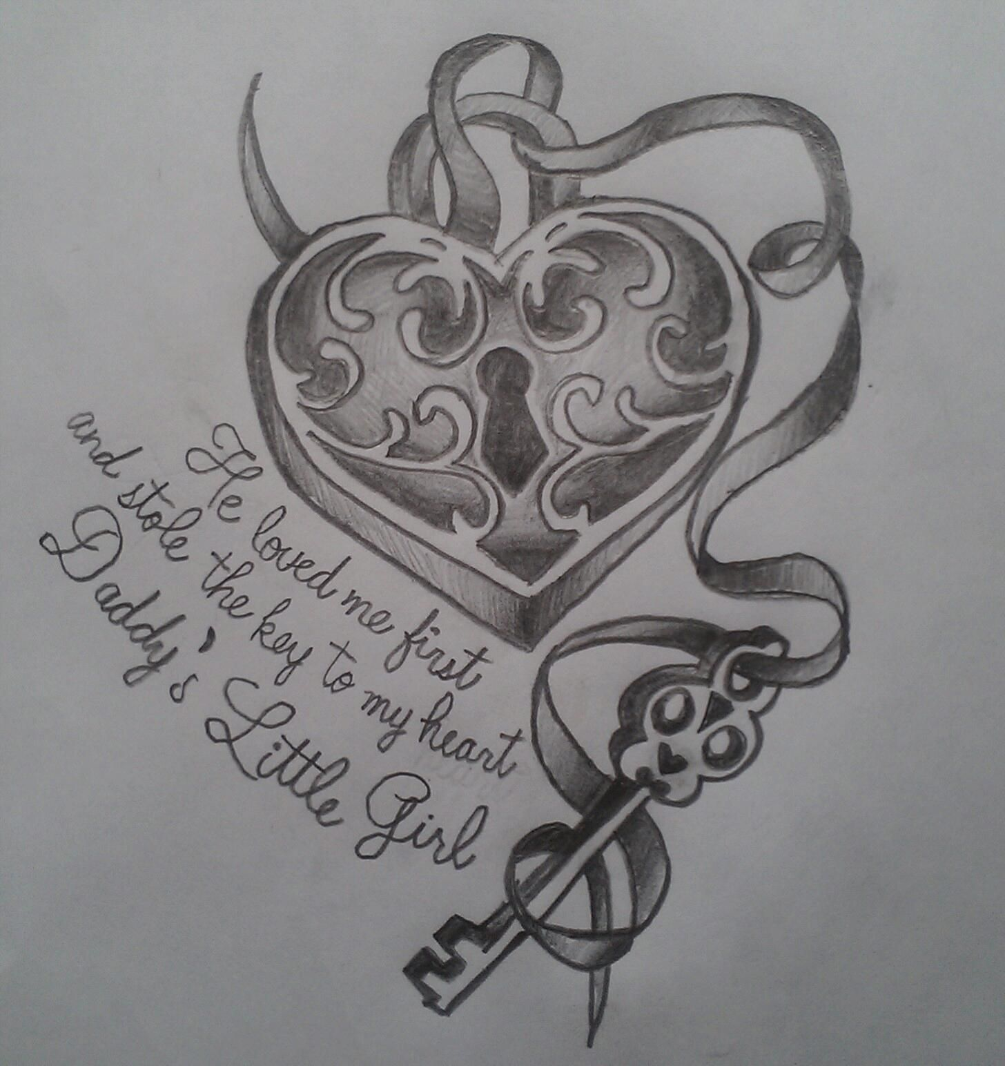 d505554f9 He loved me first and stole the key to my heart...daddys little girl...my  own drawing! Meghan Nellis