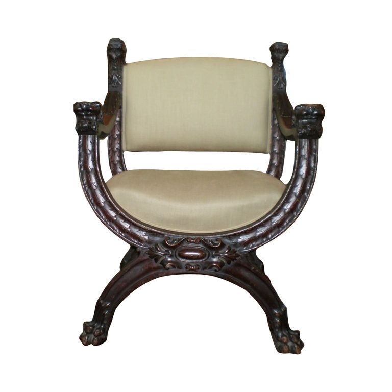 Incroyable Italian Carved Walnut Renaissance Style Chair | From A Unique Collection Of  Antique And Modern Armchairs At ...