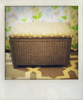 Repurposing An Old Wicker Trunk Turning It Into A Bench/Toy Chest