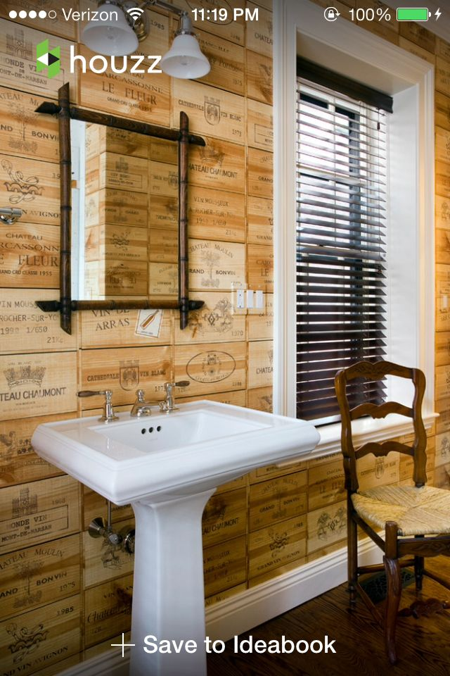 wine box wall. Something new to look at | Wine box ideas ...