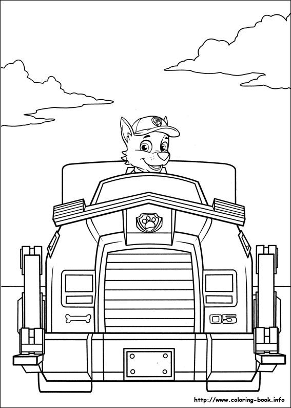 Paw Patrol Coloring Pages On Book