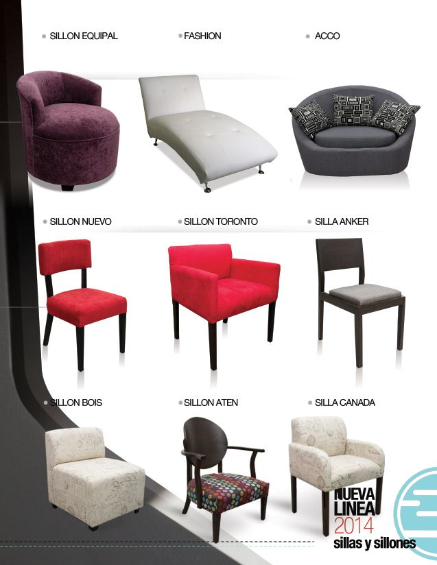 Sillones ocasionales y sillas de inlab muebles sillas 2014 pinterest mesas - Sillas y sillones ...