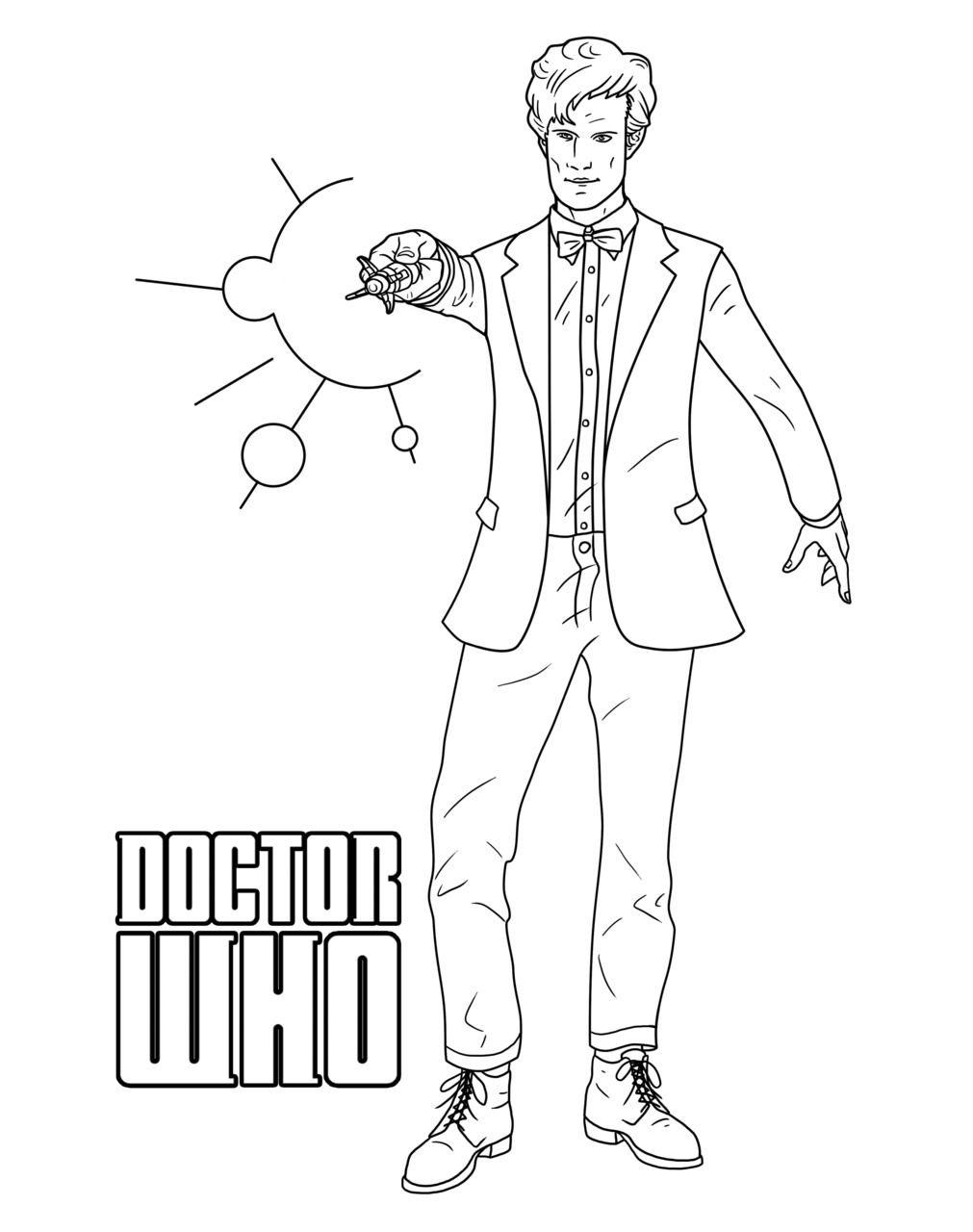 11th Doctor Coloring Page For Our Whovian Friends Colouring Pages Coloring Pages Doctor Who