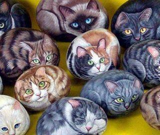 Dibujo en piedras de ri piedras decoradas pinterest - Dibujos de piedras ...