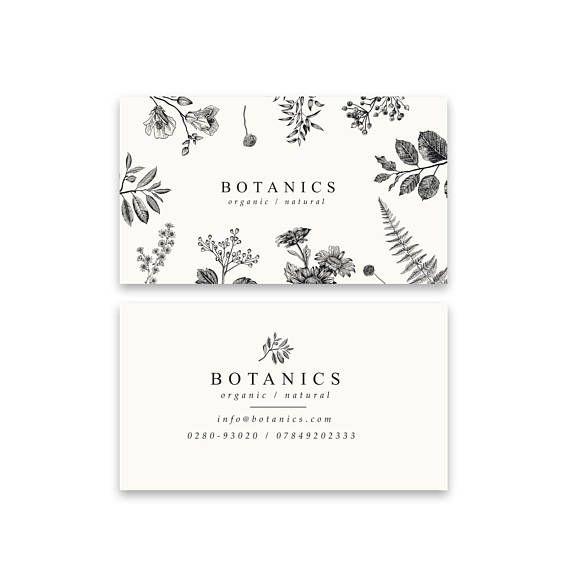 Business Card Template Business Card Flower Business Card Carte De Visite Design Carte D Affaire Cartes De Visite Originales