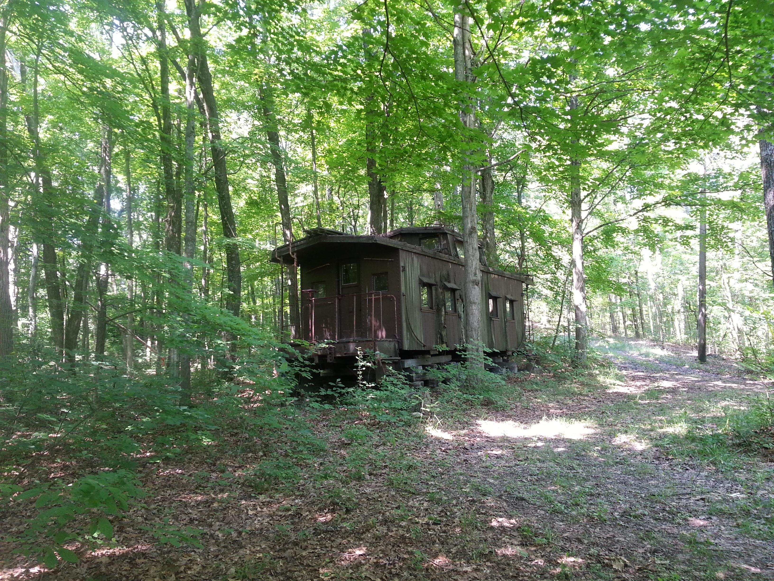 Caboose In The Woods [3264X2448] [Oc]