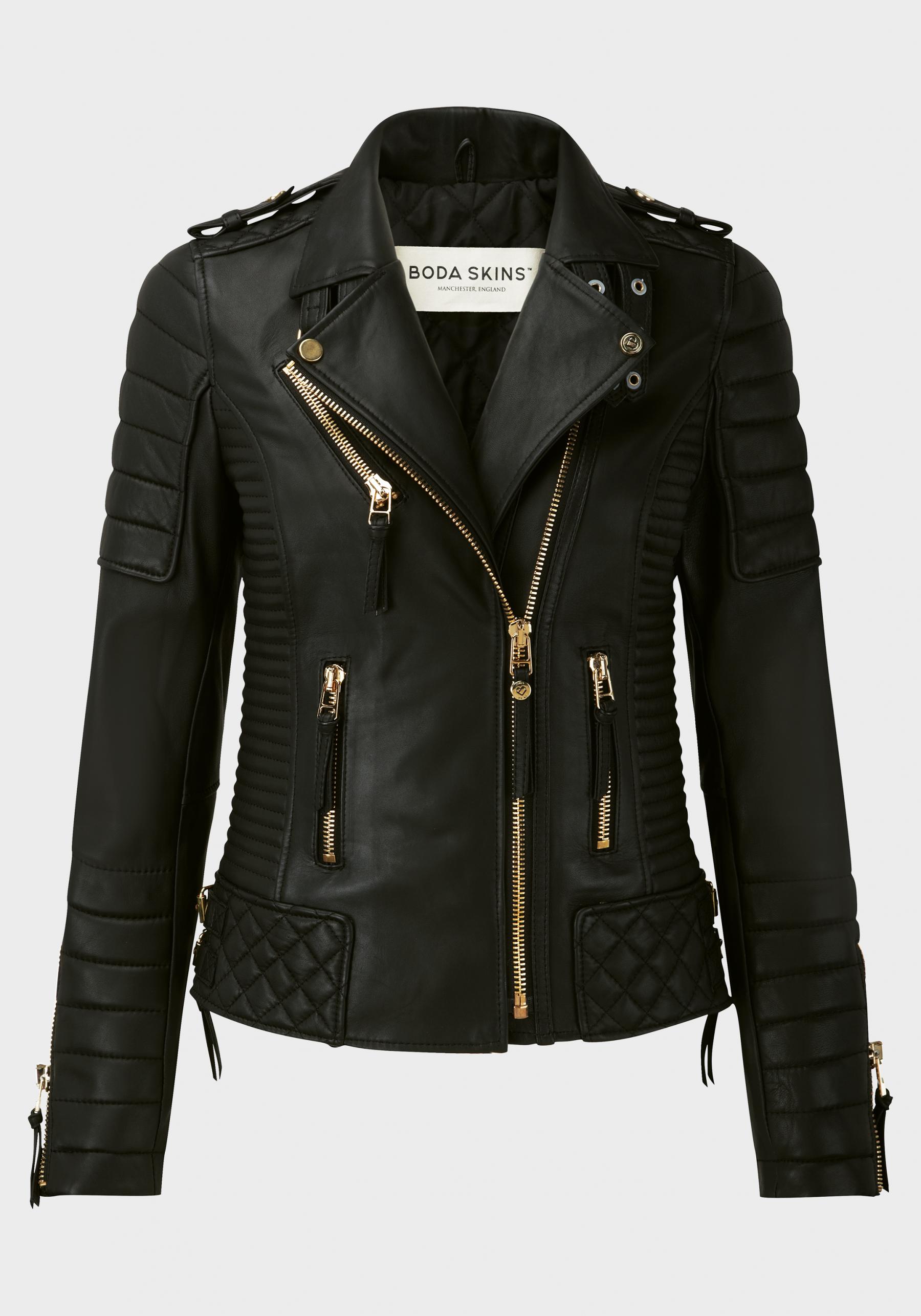 Kay Michaels Quilted Biker V.2 (Gold Hardware) - Jackets - Women ...