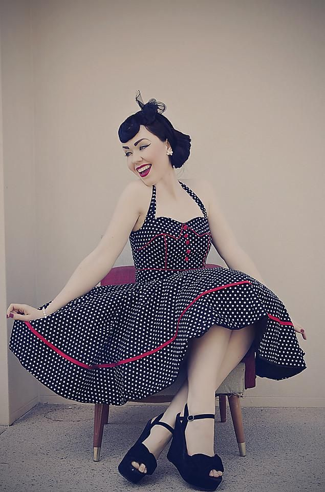 Lady Cherran Rockabilly Halterneck Dress
