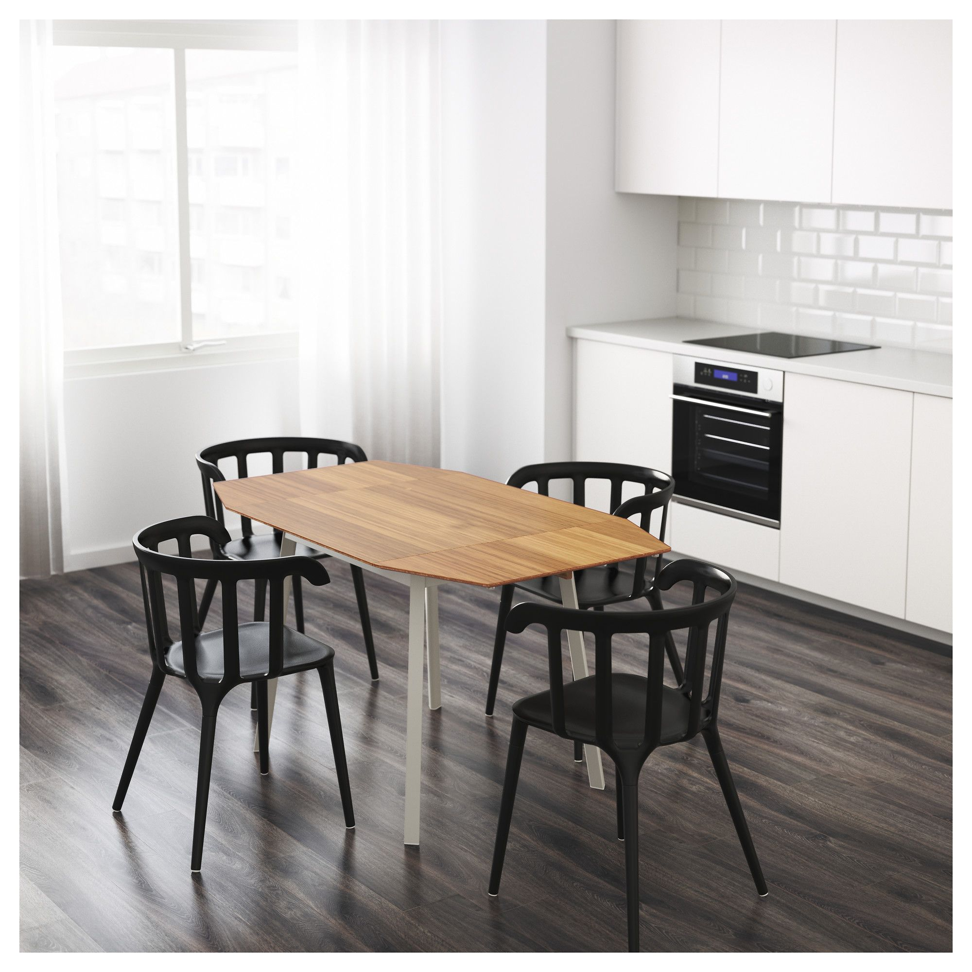 IKEA - PS 2012 Drop-leaf table bamboo, white nel 2018 | Dining ...