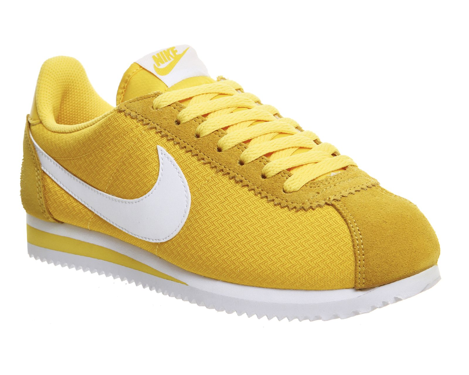 Buy Varsity Maize White Nike Cortez Nylon from OFFICE.co.uk.