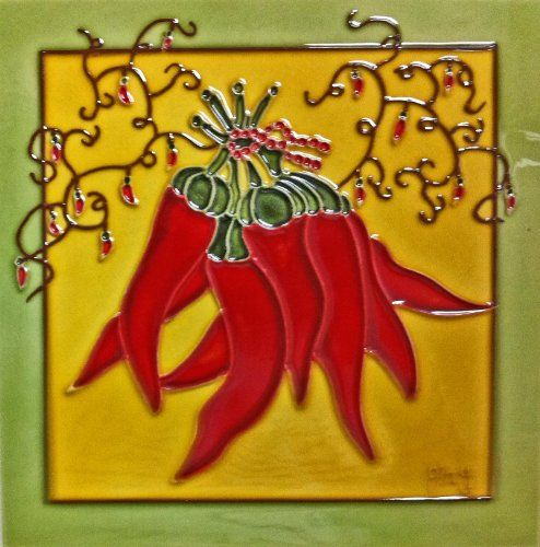 Red Pepper Ceramic Art Tile. Perfect art for the kitchen wall ...